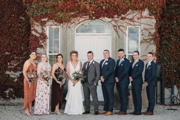 bridal party at Castle Dargan wedding venue, Sligo, Ireland