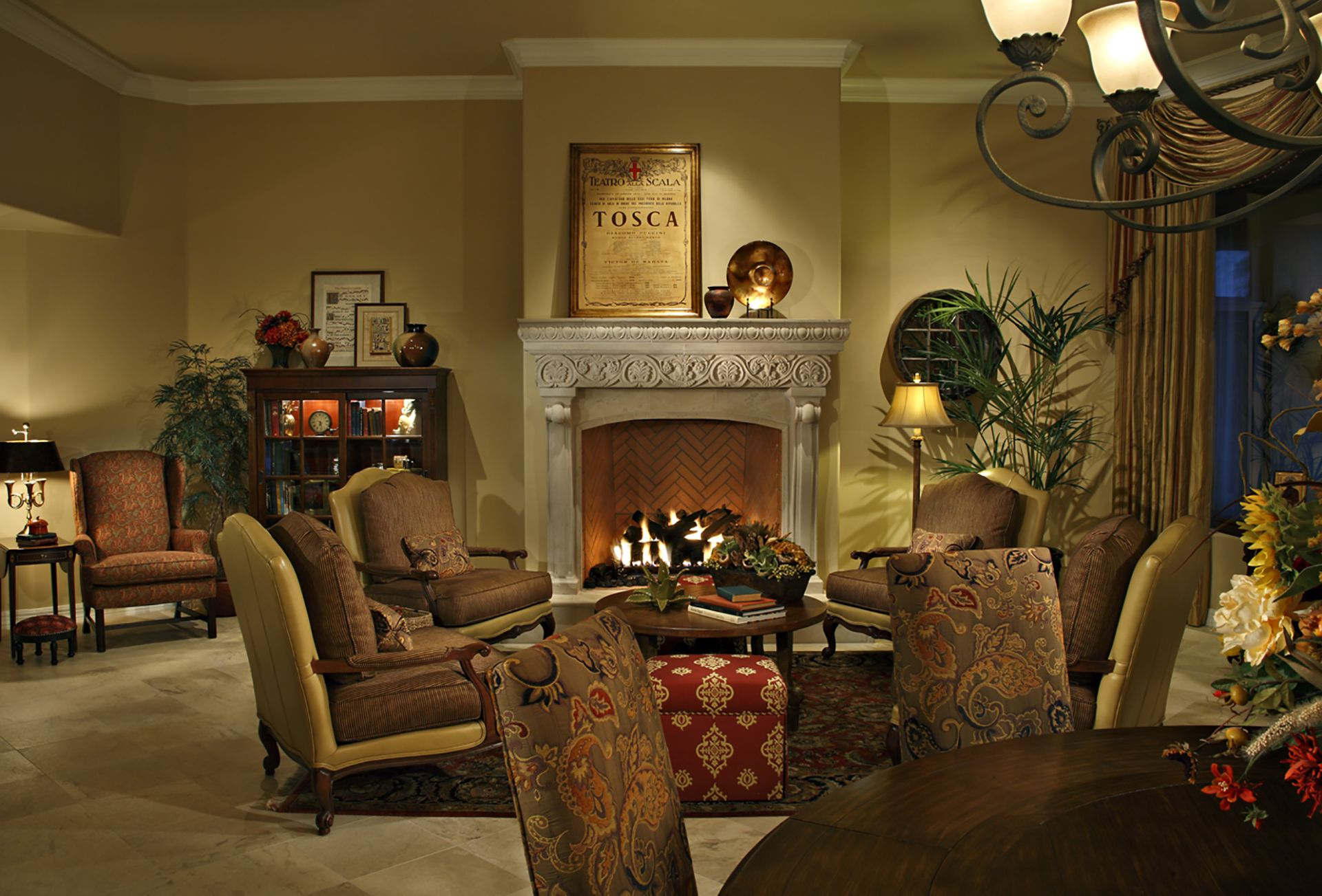 Tuscan Living Room Pawling Interior Design