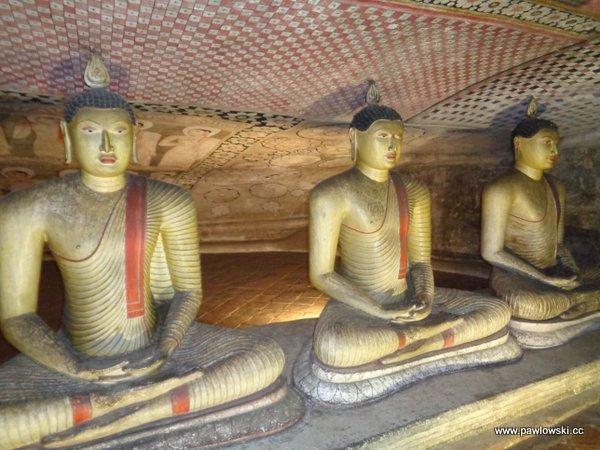 Złota świątynia Dambulla; Sri Lanka