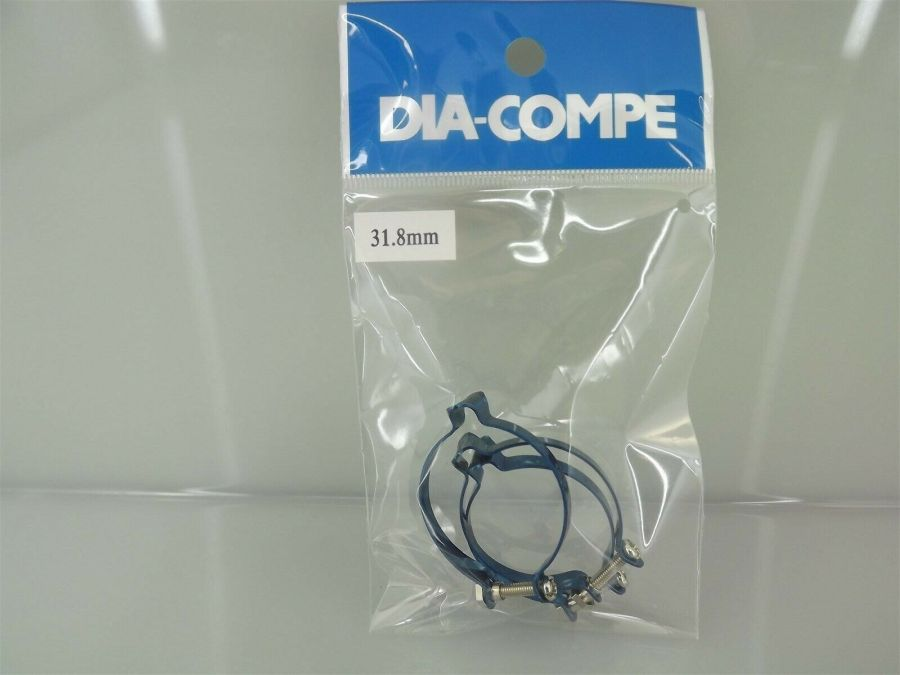 3 New Dia-Compe Frame Top Tube Brake Cable Holder 31.8mm Old School BMX BLUE 1