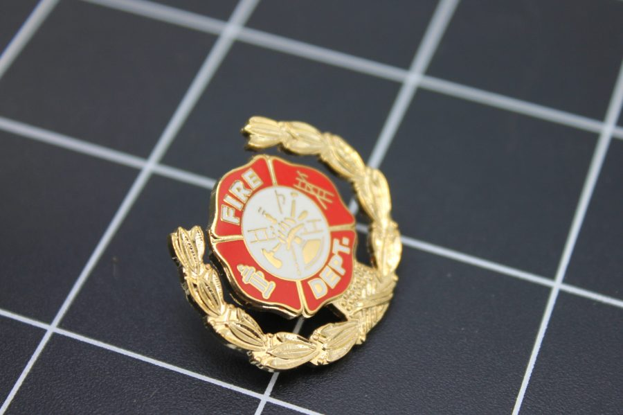 Brand-New FIRE DEPARTMENT WITH WREATH Fireman Enameled Lapel Pin Lifetime Guarantee 2