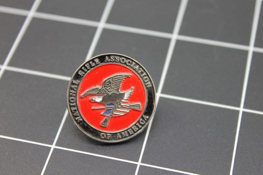 Brand-New NATIONAL RIFLE ASSOCIATION OF AMERICA Enameled Lapel Pin Lifetime Guarantee NRA 2