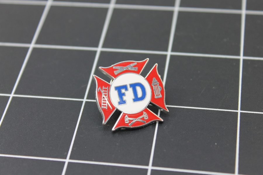 "Brand-New FIRE DEPARTMENT Fireman F.D. ""AMERICA'S BRAVEST"" Enameled Lapel Pin Lifetime Guarantee 2"