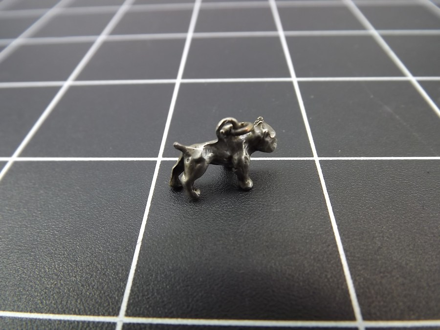 VINTAGE STERLING SILVER BOXER DOG BREED CHARM 2.0 GRAMS 1