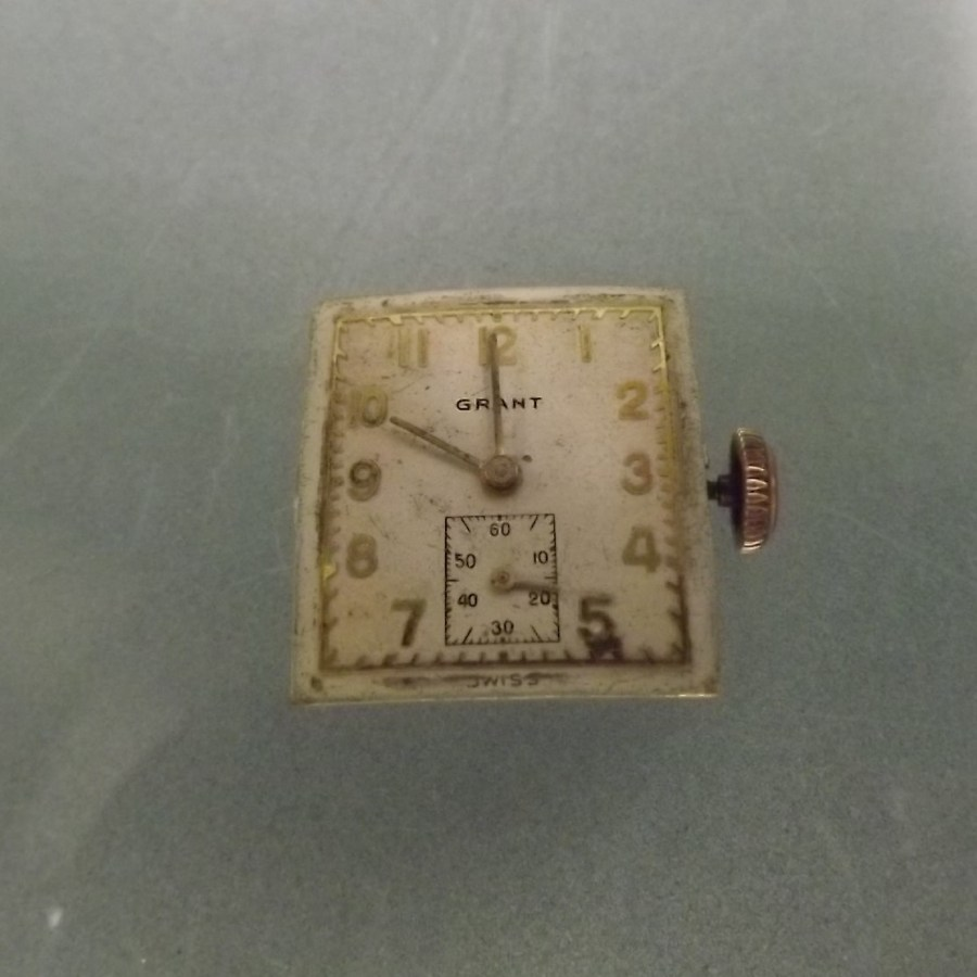 WATCH WEAR OR FOR PARTS  SWISS GRANT WATCH COMPANY WILL NOT WIND OR RUN 1