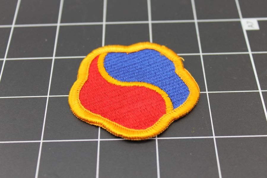 RED AND BLUE MILITARY IRON ON PATCH 3