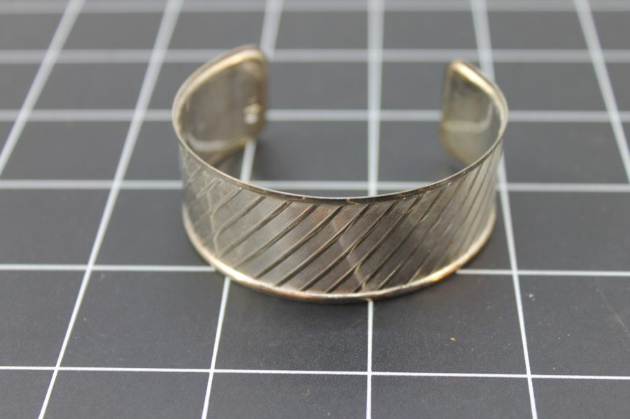 SILVER 925 MADE IN ITALY PATTERNED CUFF BRACELET 14.5 Grams 4