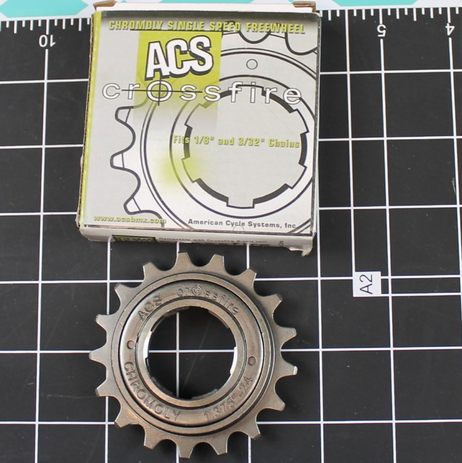 New ACS Crossfire Freewheel 17t Fits 1/8 & 3/32 BMX Freewheel GUN METAL GRAY 1