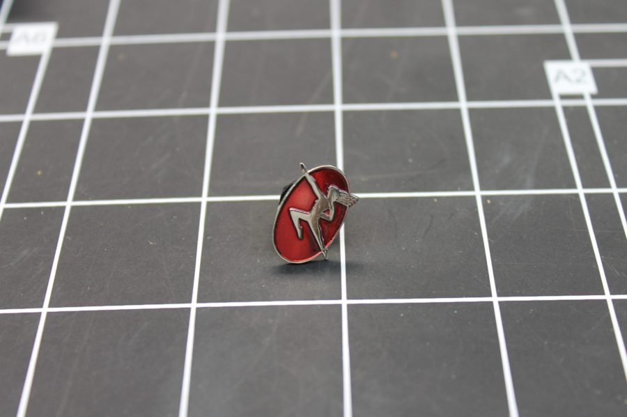BRAND NEW SILVER TONE DANCER LADY RED ENAMEL LAPEL PIN 1
