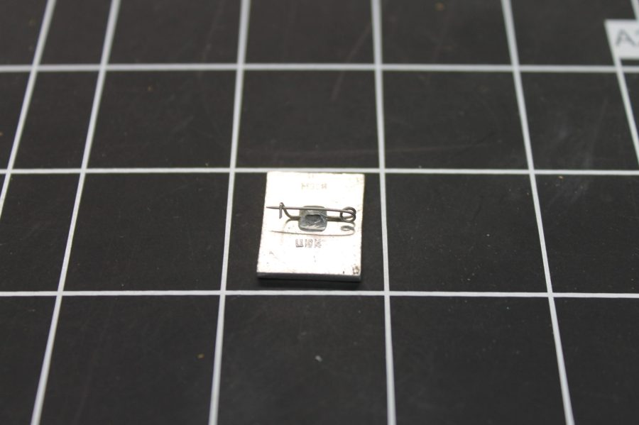 VINTAGE ANTIQUE SILVER TONE MILITARY AIRPLANE RUSSIA USSR ENAMEL LAPEL PIN 2