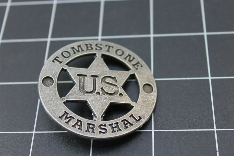 "BRAND NEW ""Tombstone U.S. Marshal"" FULL SIZE Police Badge 2"" 1"