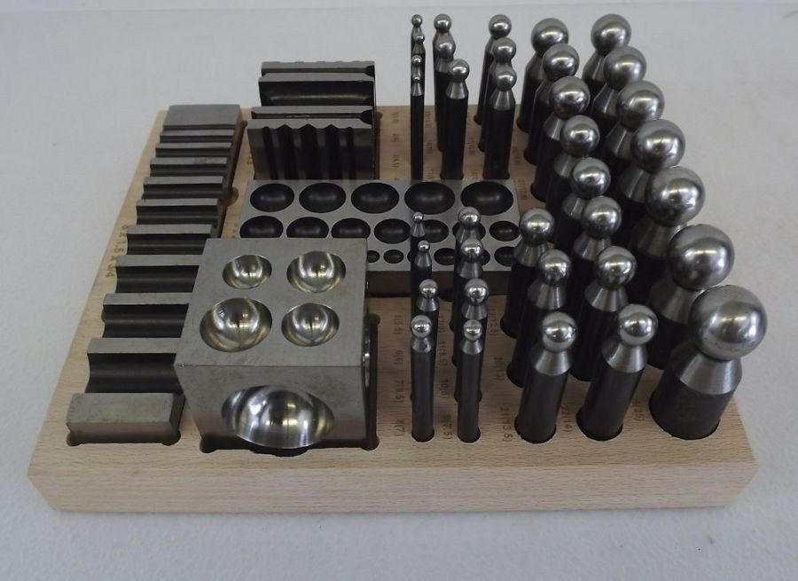 New 41-PC Jewelers Dapping Block Set Metal Forming Tool Goldsmith Silversmith 5