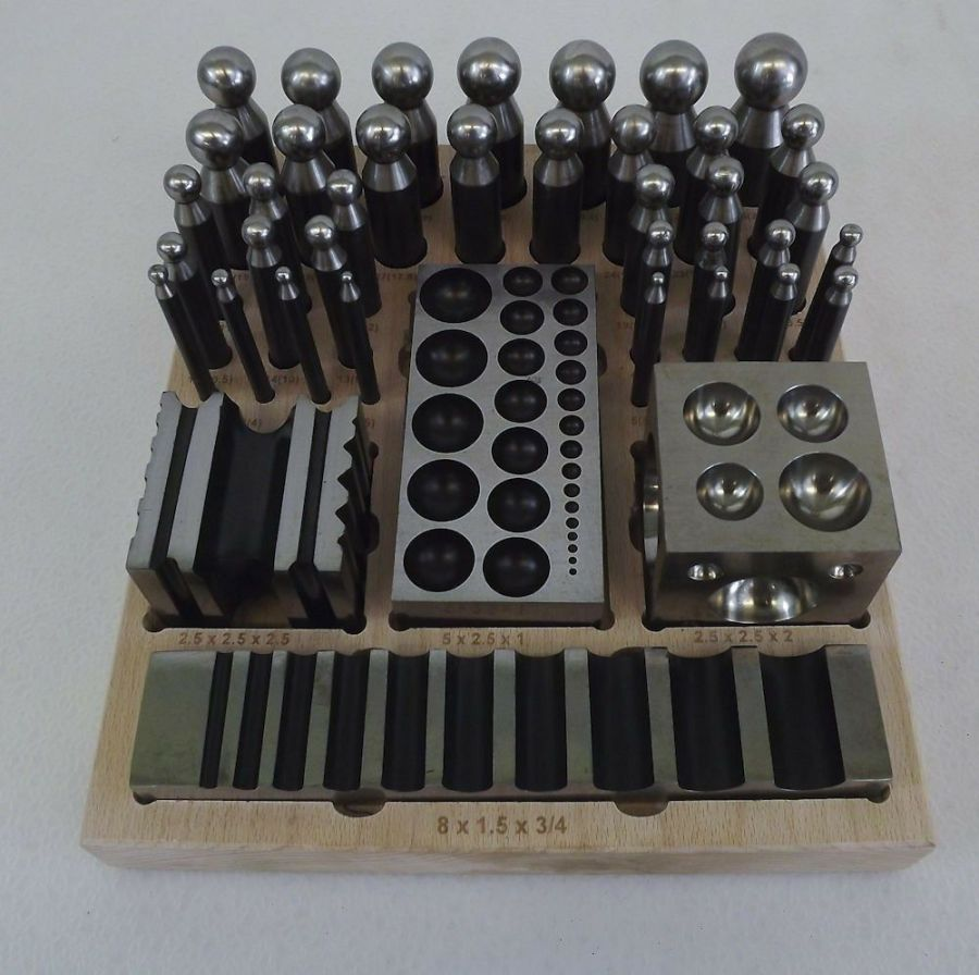 New 41-PC Jewelers Dapping Block Set Metal Forming Tool Goldsmith Silversmith 1