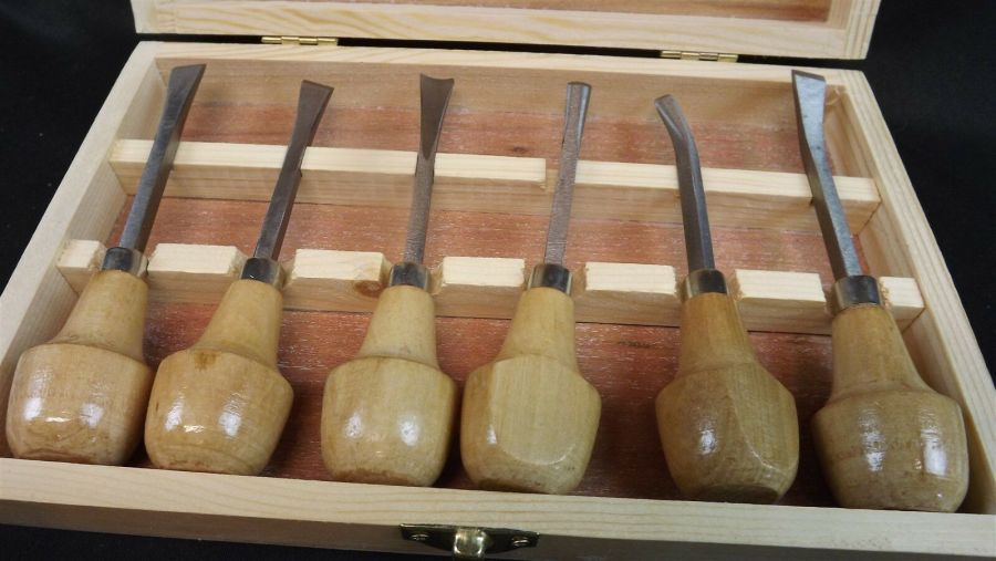 New 6 Piece Wood Carving Set Woodworking 3