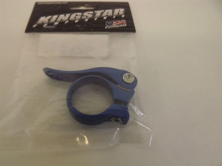 New Kingstar BMX Quick Release Seatclamp 31.8 BLUE Fits Crupi GHP SE Redline 3