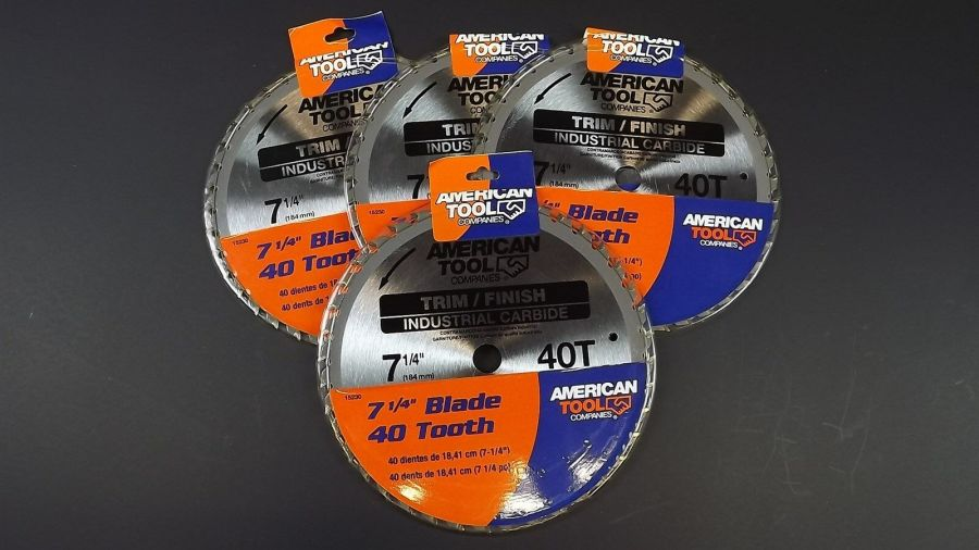 """SET OF 4"" American Tool 7 1/4"" 40 Teeth Trim Finisher Carbide Saw Blades NEW 1"
