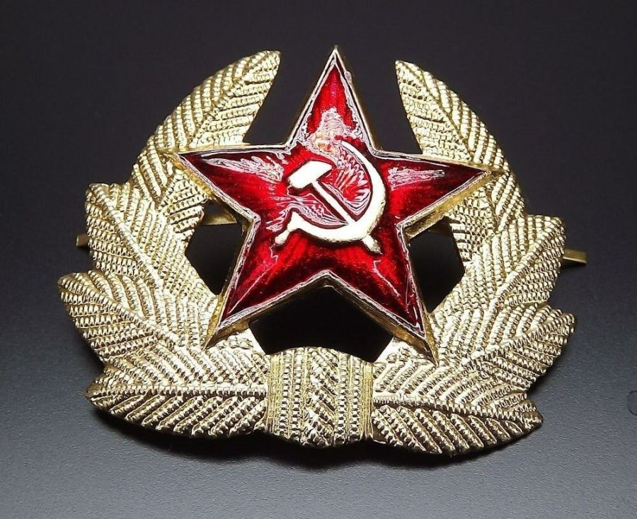 Soviet Russian army military RED STAR hat beret badge SURPLUS NEW CONDITION 1