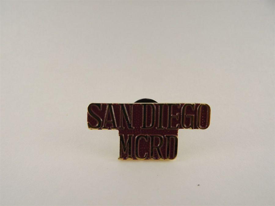UNITED STATES MARINE CORPS San Diego MCRD LAPEL / HAT PIN BRAND NEW 1