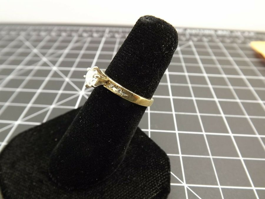 14Kt Solid Yellow Gold .40ct Genuine Diamond Solitaire Wedding Ring 14 Karat 14k 3