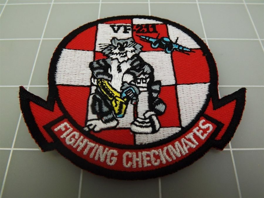 "BRAND NEW U.S. NAVY USN TOMCAT VF-211 FIGHTING CHECKMATES Patch 3 3/8"" 1"