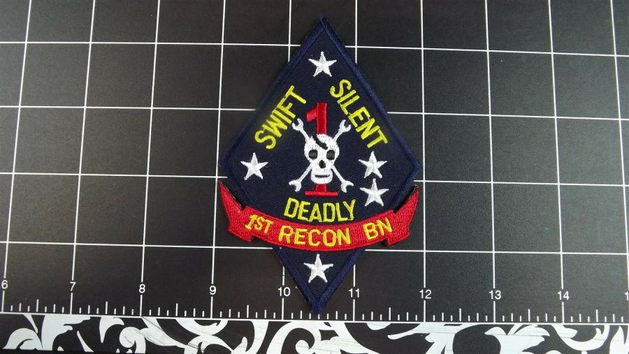 MARINE CORPS USMC 1ST RECON BATTALION SWIFT SILENT DEADLY PATCH BRAND NEW 1