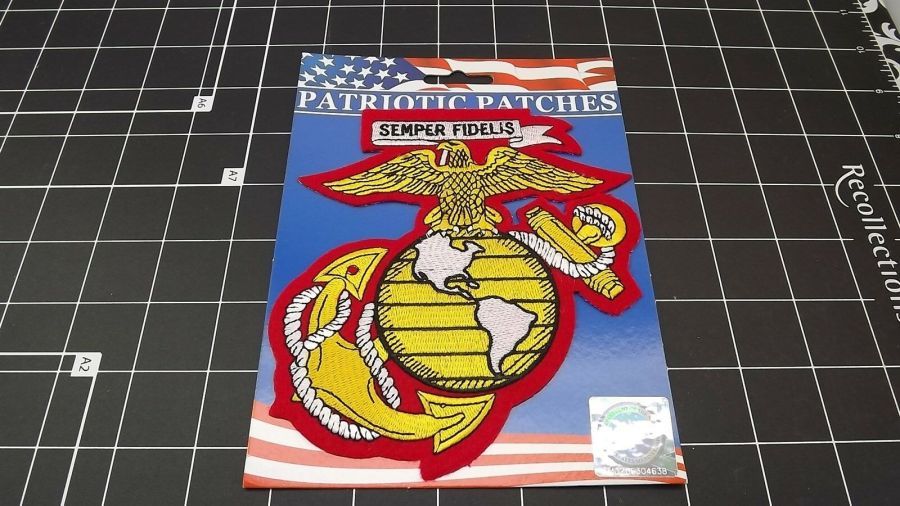 "MARINE CORPS USMC PATCH LARGE LOGO SEMPER FI 5.5"" NEW GLOBE EAGLE ANCHOR ""EGA"" 1"