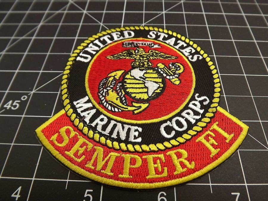 "MARINE CORPS USMC PATCH LOGO SEMPER FI BRAND NEW 3"" IRON-ON ""NEW DESIGN"" 2"