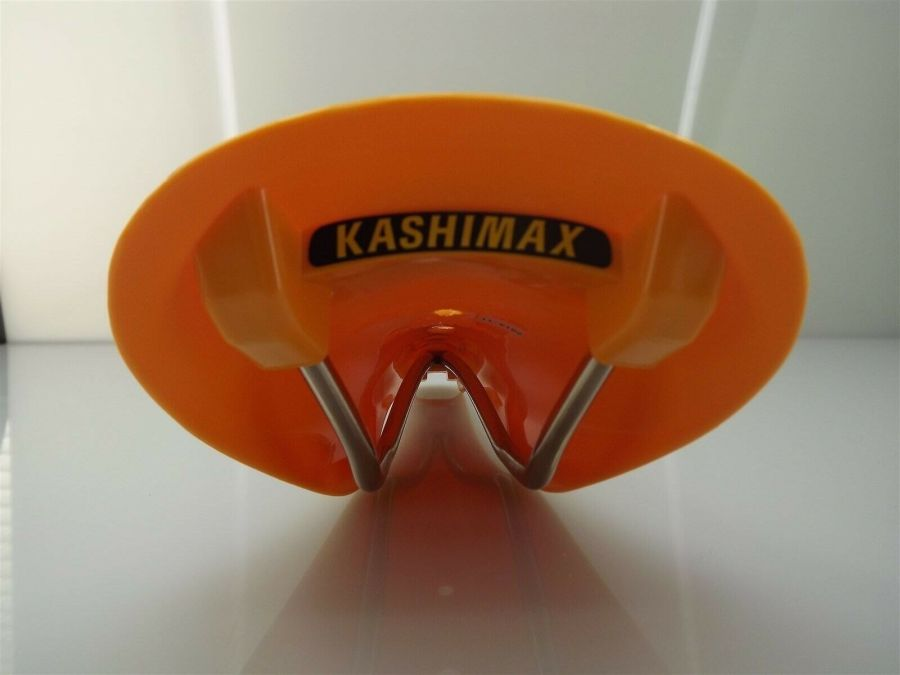 New Kashimax AMXC Aero Plastic BMX Seat Old School AMXC YELLOW 3