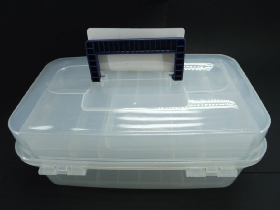 New Transparent Plastic Tool Box & Removable Inner Tray 8