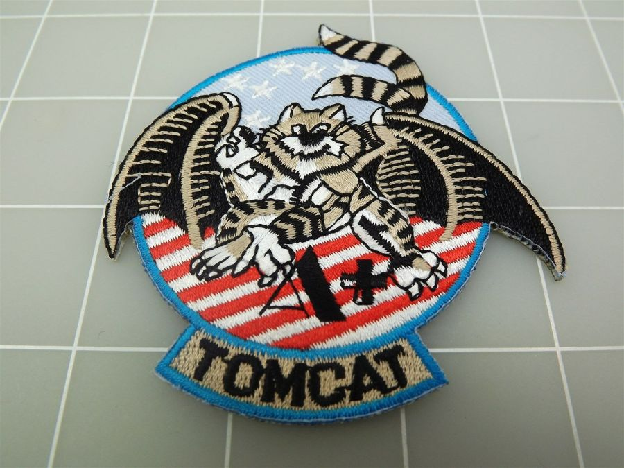 "BRAND NEW U.S. NAVY USN TOMCAT A+ Red White Blue Patch 3 1/2"" 1"