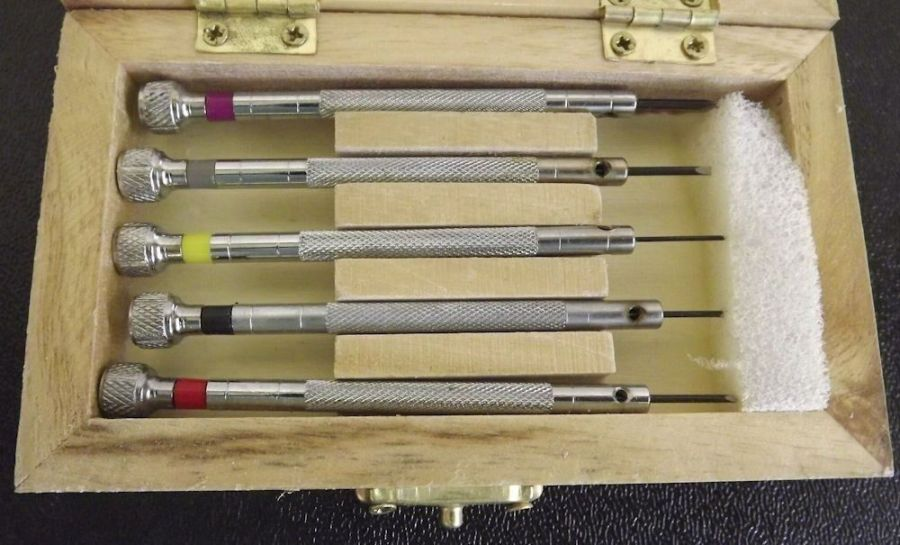 New 5pc Precision MICRO Screwdriver Set in a Wooden Box (WITH 5 EXTRA TIPS) 3