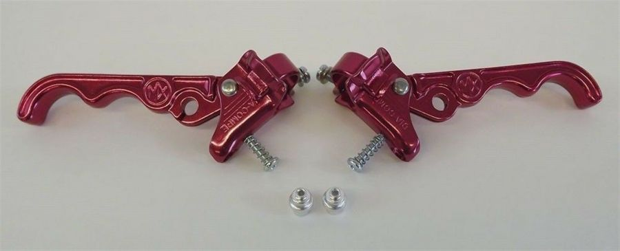New Dia-Compe Tech 2 MX120 Brake Lever Set Old School BMX Red 1