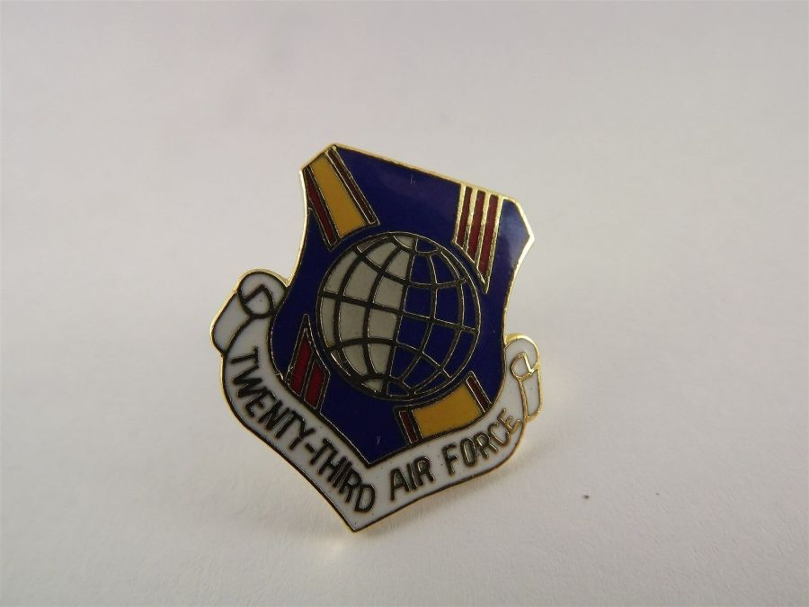 USAF AIR FORCE 23RD AIR FORCE PIN LAPEL / HAT PIN BRAND NEW MILITARY 1