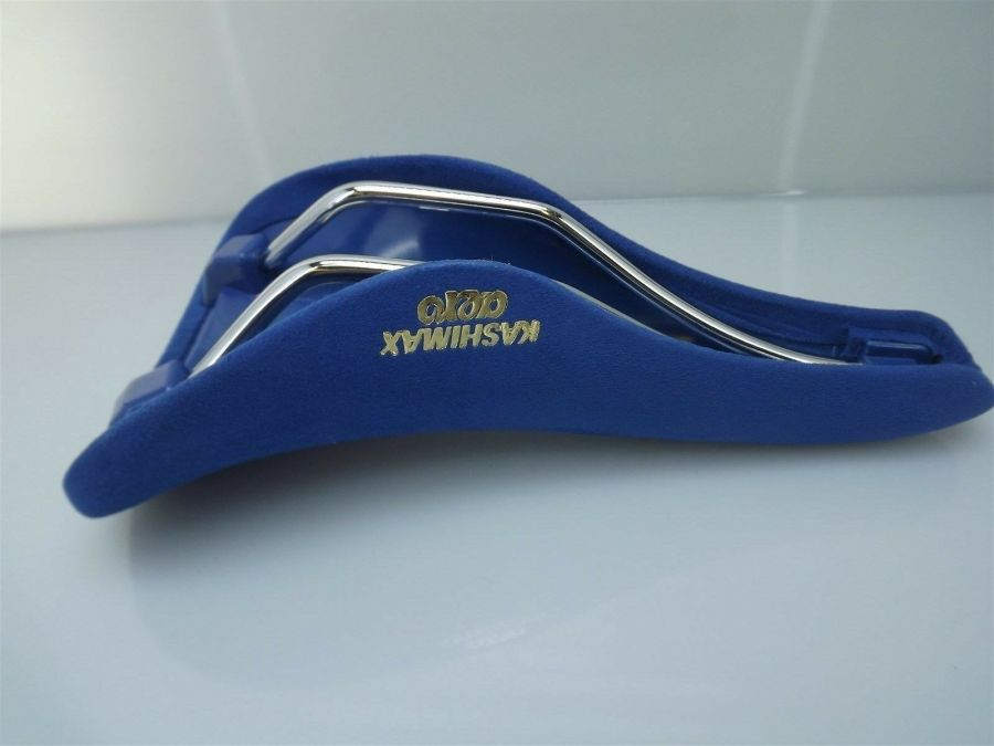 BRAND NEW Kashimax AERO BMX Seat BELLESEIME BLUE SUEDE Old School PADDED AX4A 5