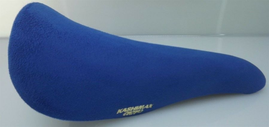 BRAND NEW Kashimax AERO BMX Seat BELLESEIME BLUE SUEDE Old School PADDED AX4A 1