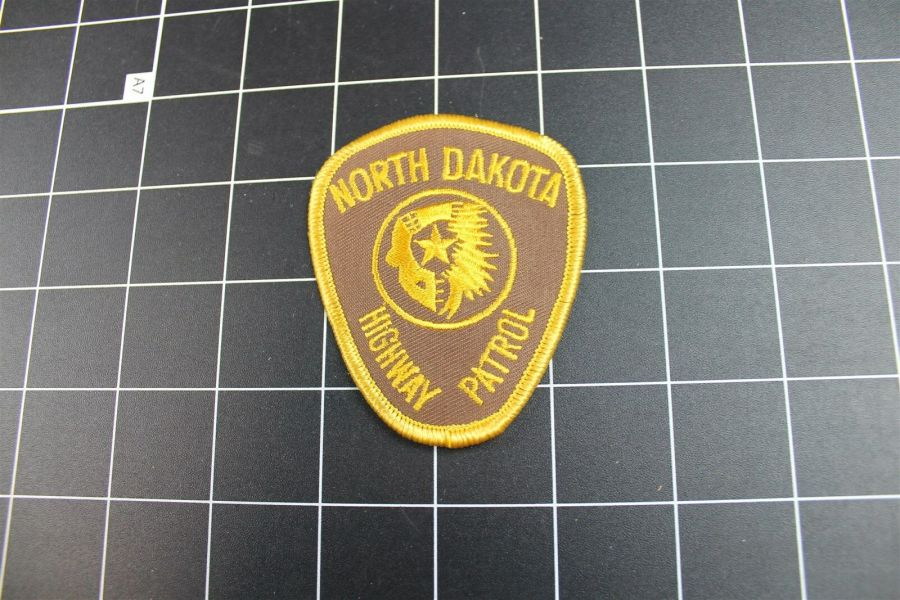 """NORTH DAKOTA"" HIGHWAY PATROL POLICE PATCH BRAND NEW 3"