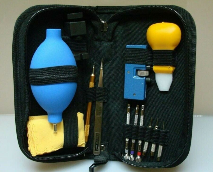 Watch Repair Tool Kit Jeweler case opener spring bar 14 PIECE w/ pouch 2