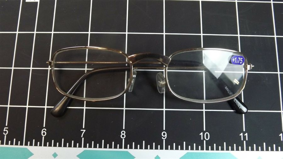 3-PAIRS OF BRAND NEW METAL FRAME Reading Glasses 1.75X Magnification 1