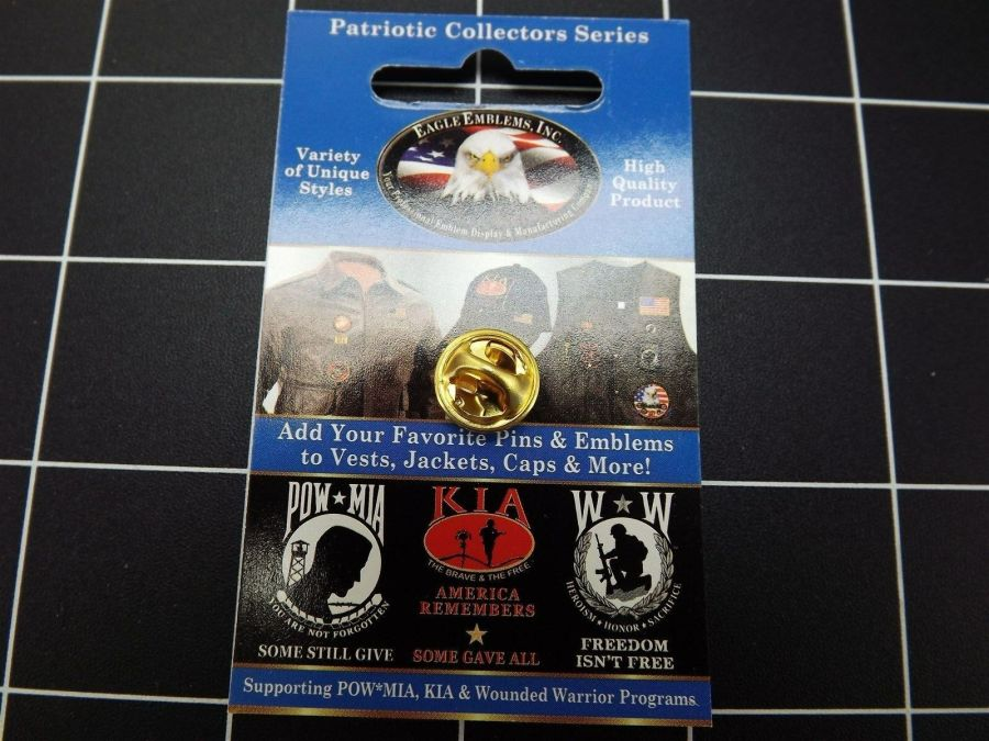 "BRAND NEW Lapel Pin Marine Corps USMC Red & Black Enamel 7/8"" CLOSEOUT 3"