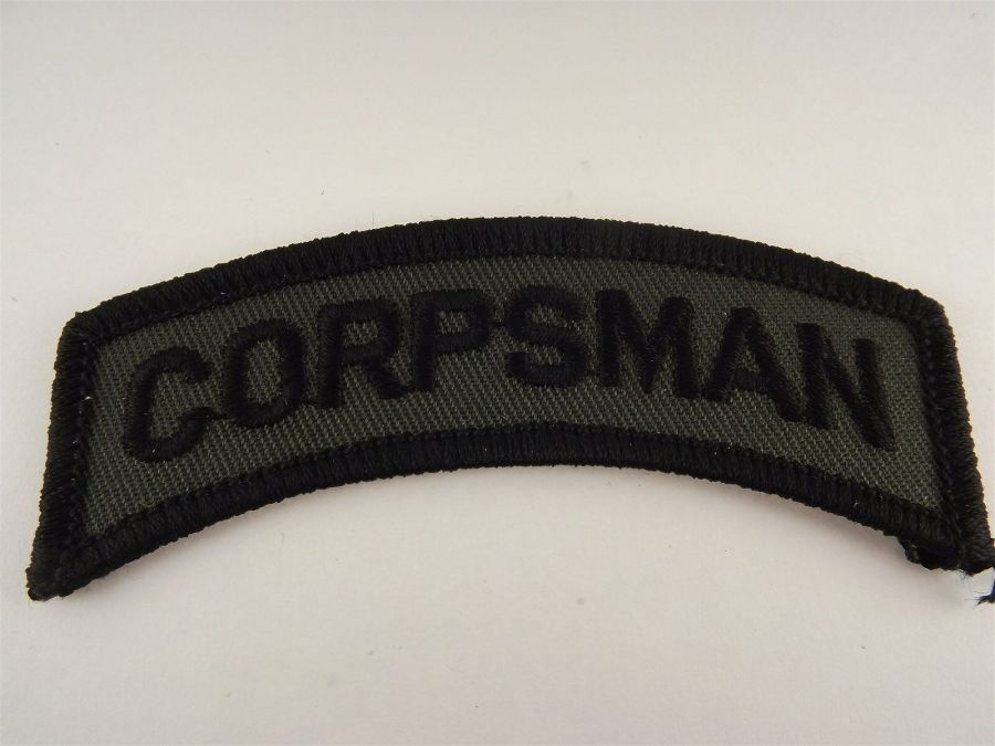 """CORPSMAN"" Iron on Patch 1"