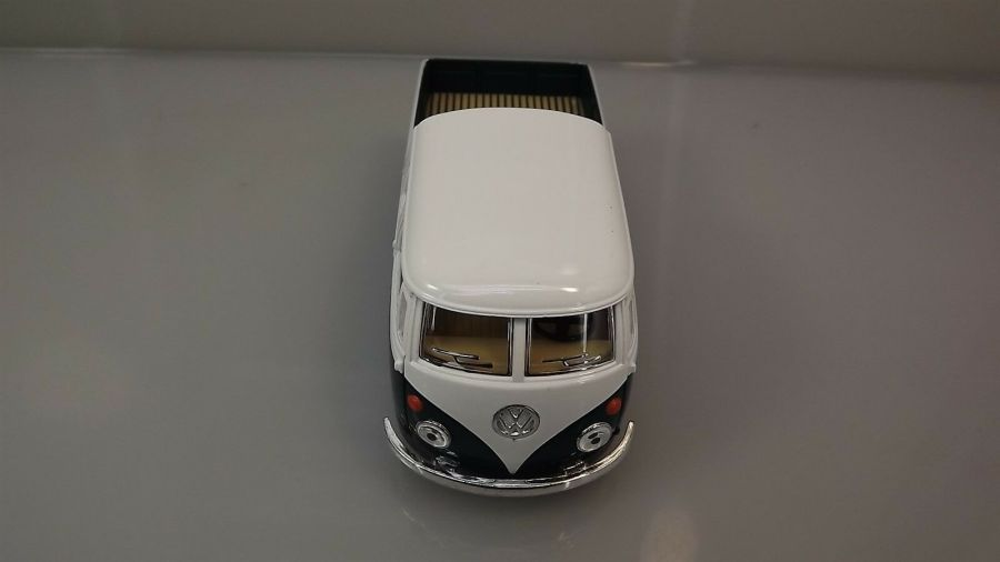 Die Cast Green 1963 Double Cab Pickup Volkswagen Classic Bus 1:34 Scale New 5