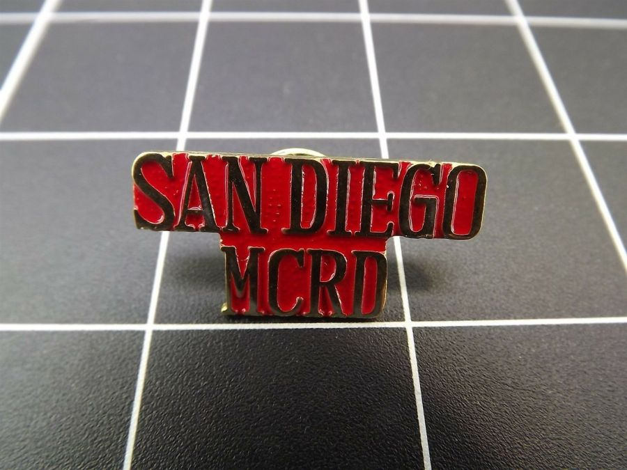 "BRAND NEW Lapel Pin ""USMC"" SAN DIEGO MCRD LIFETIME GUARANTEE 1"