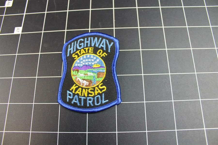 """KANSAS"" STATE PATROL POLICE PATCH BRAND NEW 3"