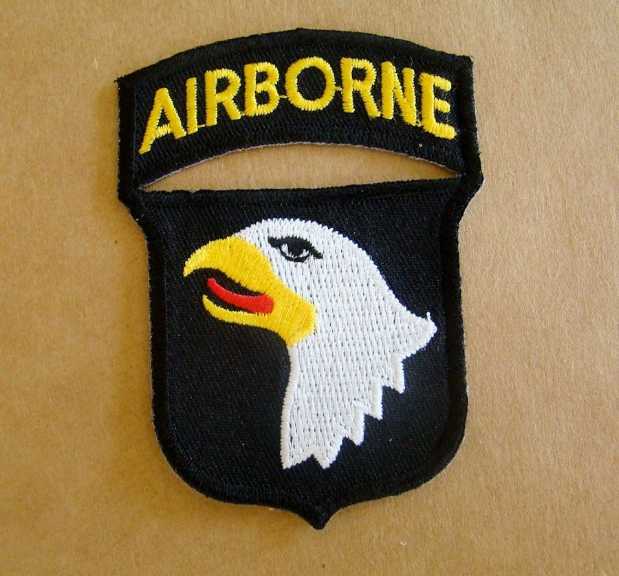 US Army 101st Airborne Iron On Patch 1