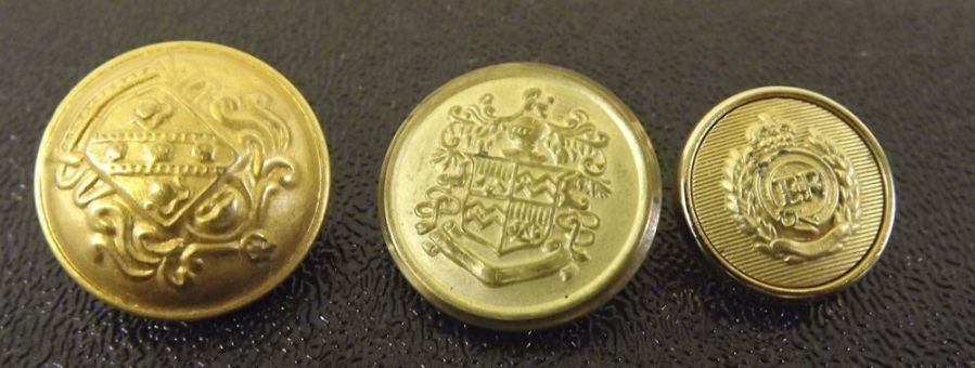 Vintage Military Gold Tone Uniform Buttons Army Navy Marines 1