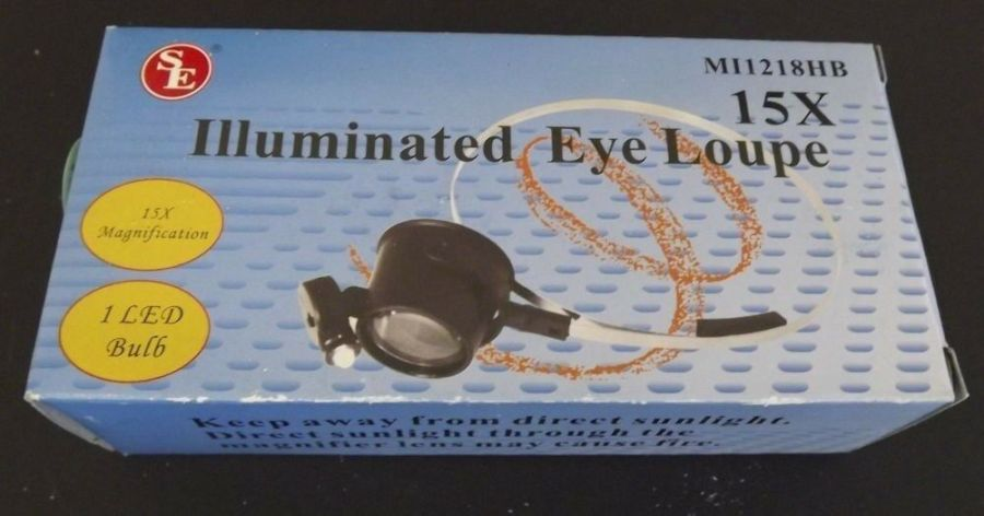 BRAND NEW 15-POWER 15 x31mm Illuminated Hands-Free Eye Loupe Jeweler Watch Tool 1