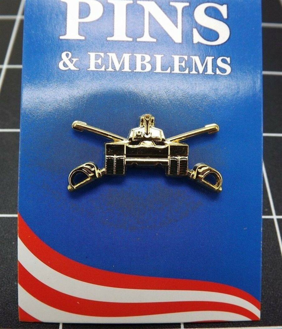 "BRAND NEW Lapel Pin United States Army Armor Vehicle Crossed Sabers 1 1/4"" 1"