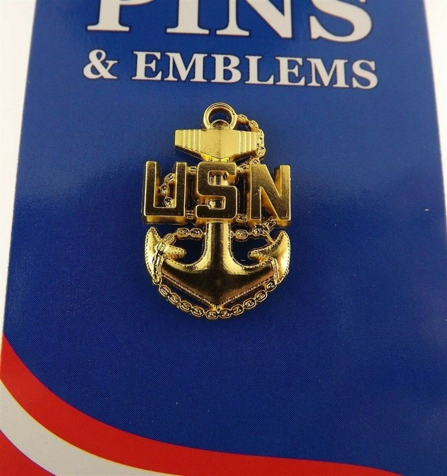 "BRAND NEW Lapel Pin United States Navy Chief Petty Officer BAS 1"" 1"