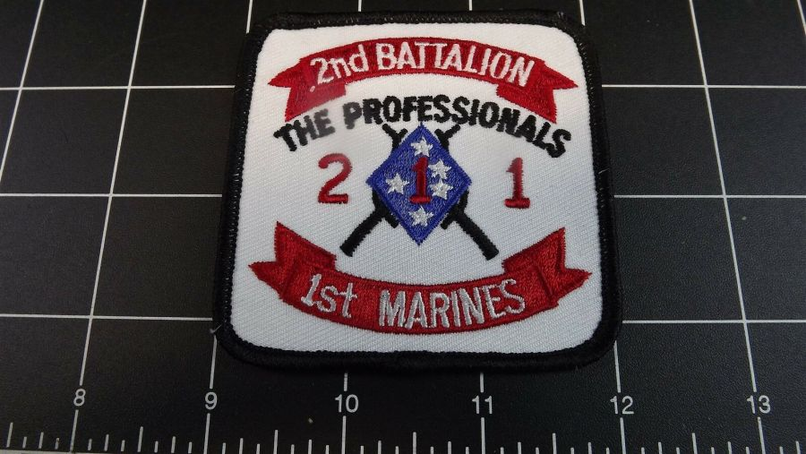 """BRAND NEW Marine Corps USMC 2ND BATTALION 1ST MARINES """"THE PROFESSIONALS"""" PATCH 1"""