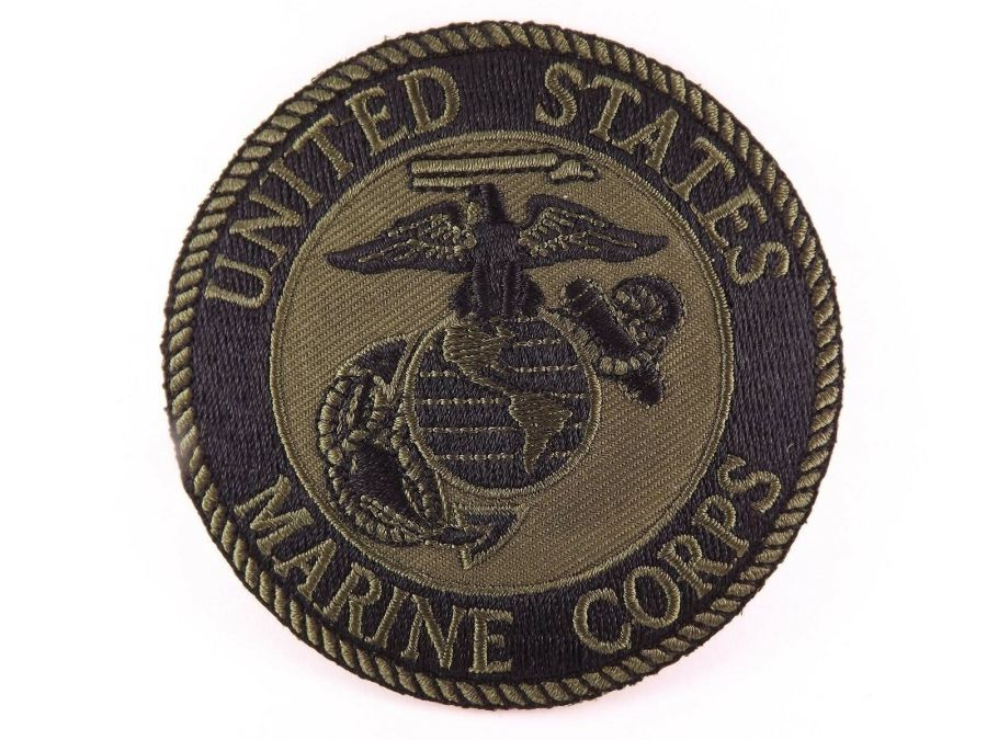 "MARINE CORPS USMC SUBDUED PATCH LOGO SEMPER FI BRAND NEW 3"" IRON-ON 1"